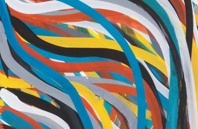 Untitled (Wavy brushstrokes)
