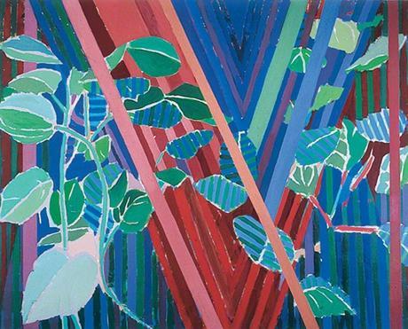 Tricia Gillman, Hydrangea with 'V', 1993. huile sur toile, 122 x 151,5 cm