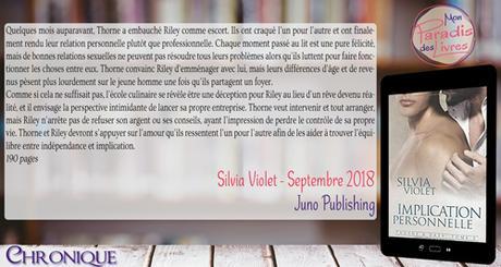 Thorne & Dash #2 – Implication personnelle – Silvia Violet