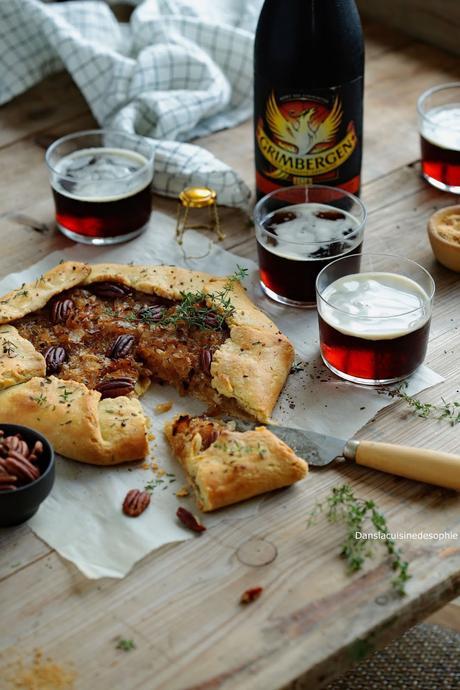 Tarte rustique & bière ambrée Grimbergen