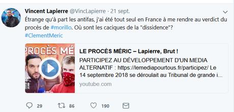 Neutralisons la taupe fasciste @VincLapierre (i.m. #ClementMeric)