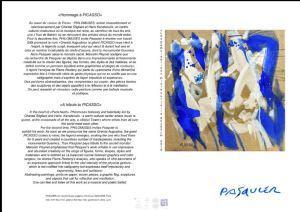 PHILOMUSES  Expositions Noel Pasquier « Hommage à Picasso » –   concerts Octobre 2018