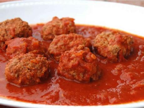 Boulettes viande hachée et sauce tomate au cookeo