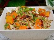 Salade d'automne quinoa, potimarron châtaignes