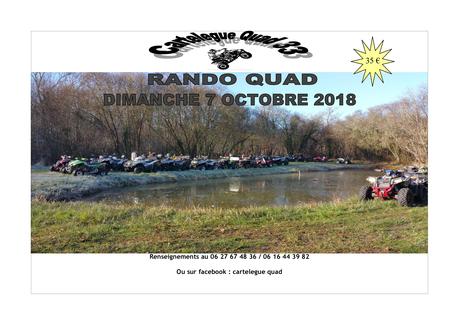 Rando quad et moto de Cartelègue quad 33, le 7 octobre 2018