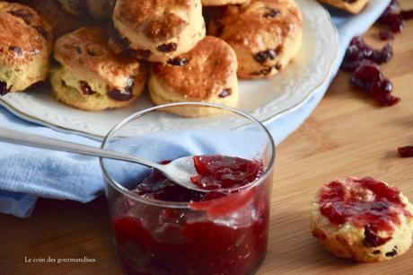 Des scones aux cranberries, l'allié du brunch parfait !