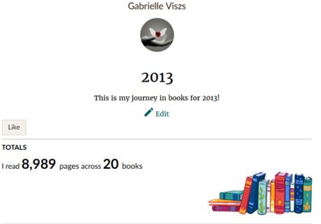 Challenge Goodread - Liens Années 2013 à 2018 (inclus)