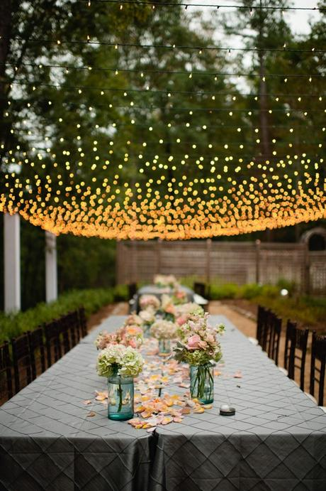 string light toit guirlande lumineuse mariage diner exterieur blog deco clemaroundthecorner