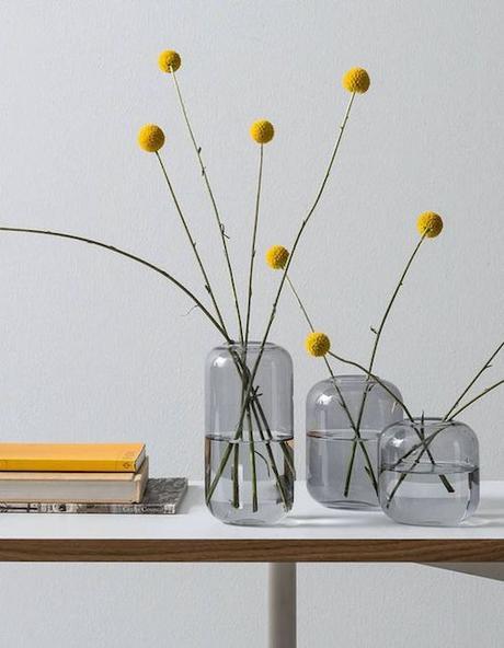 aménage 20m2 bouquet minimaliste jaune fleurs séchées