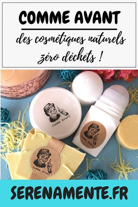 Comme Avant, des cosmétiques naturels zéro déchets : mon avis !