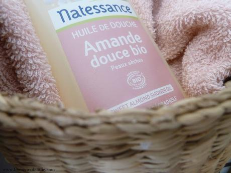 Mention très bien pour l'huile de douche à l'amande douce bio Natessance