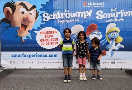 Notre matinée à l'expo «La Schtroumpf Expérience» à Bruxelles {Sortir en famille à Bruxelles}