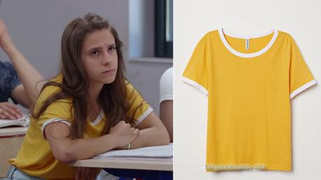 UN SI GRAND SOLEIL : le t-shirt jaune moutarde de Léa dans l'épisode 27
