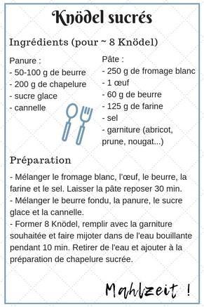 recette knödel sucré