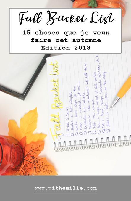 15 choses que je veux faire cet automne | Fall Bucket List 2018