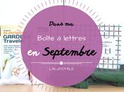 Haul coeurs Septembre Boîte lettres résumé mois.