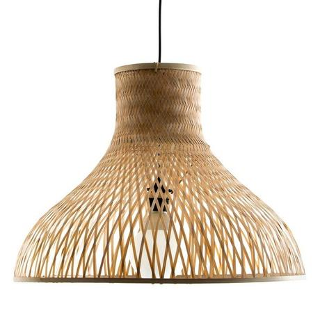 lampe bambou motif grille cadrille quadrille ombre mur blog clemaroundthecorner