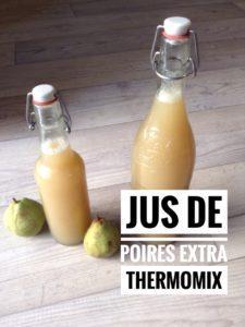 Jus de poires au thermomix