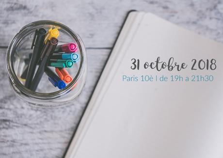 Un nouvel atelier d'écriture prévu à Paris !