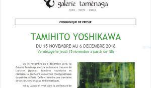 Galerie TAMENAGA                     Exposition  Tamihito YOSHIKAWA 15 Novembre au 6 Décembre 2019