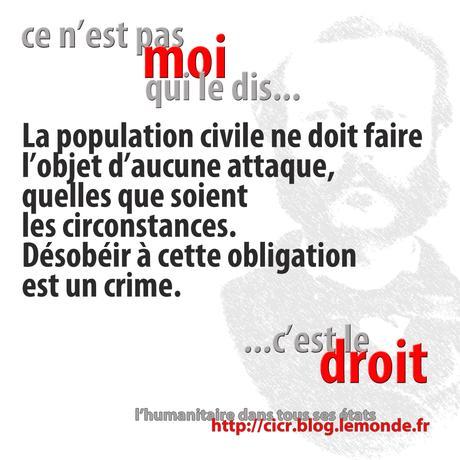 «Injonction de rappel» : attaque de la population civile = crime.