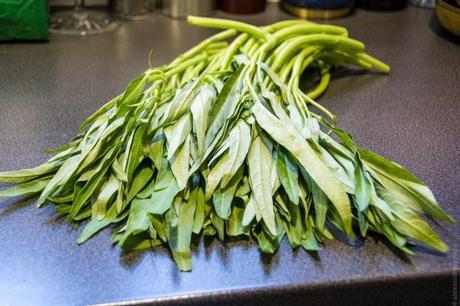 Légume voyageur – Liserons d'eau sautés à l'ail