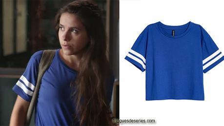 UN SI GRAND SOLEIL : le t-shirt bleu de Léa dans l'épisode 30