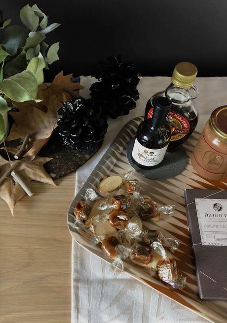 idée déco d'automne à faire soi-même buffetplateau caramels sirop d'érable goûter buffet chêne blog déco clem around the corner