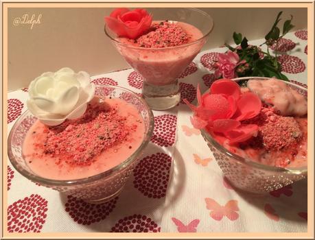 Riz au lait aux pralines roses