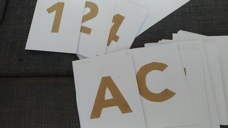 DIY#34 : Les lettres et chiffres rugueux
