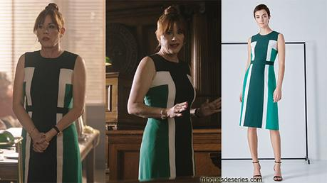 RIVERDALE : Dark green dress for Mrs. Andrews in s3ep01