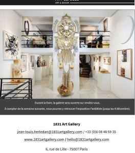 1831 Art Gallery à Art Elysées 18/22 Octobre 2018