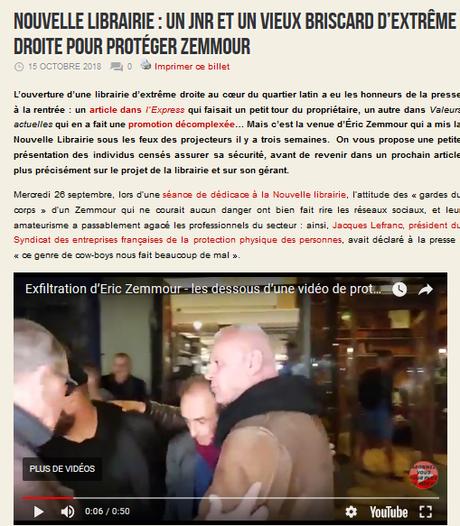 #Zemmour protégé par des néo-nazis