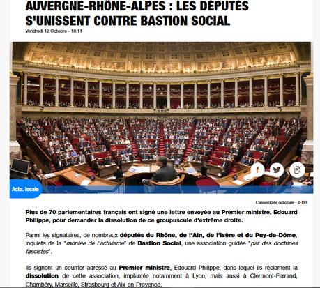 70 députés demandent la dissolution du Bastion Social