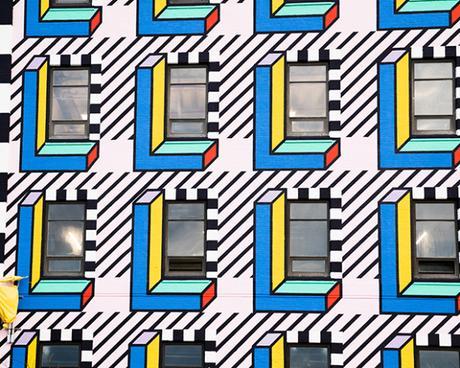 Une incroyable fresque murale à New-York par Camille Walala
