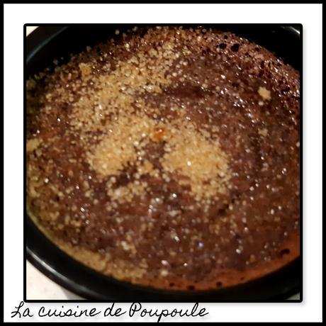 crème brulés au chocolat