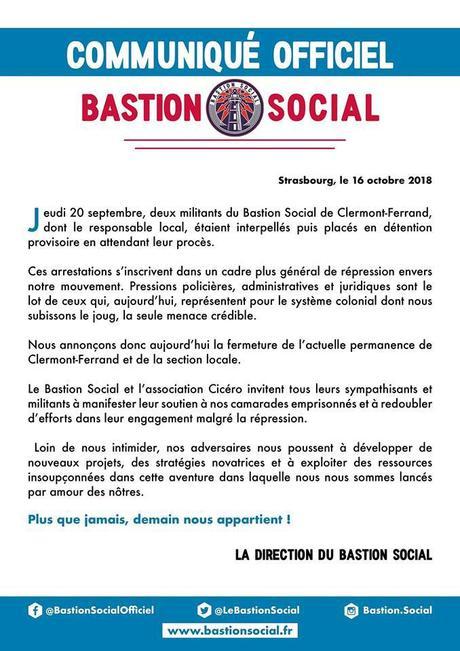 Fermeture du Bastion Social de Clermont-Ferrand : JOIE ! (merci la #CARA !)