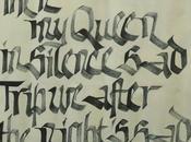 Mise place calligraphique....Then, Queen....