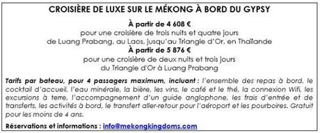 Une croisière de luxe à la découverte du Mékong