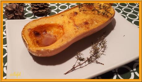 Butternut rôtie au four au Thym et Basilic