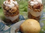 Parfait yaourt grec poire pear greek yogurt parfait yogur griego pera بارفيه بالزيادي اليوناني الاجاص