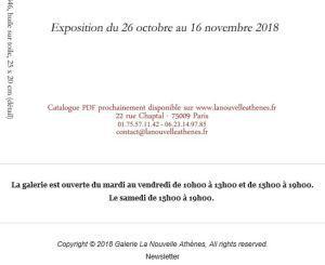 Galerie La nouvelle Athènes  « Peintures et œuvres préparatoires du XIXme »