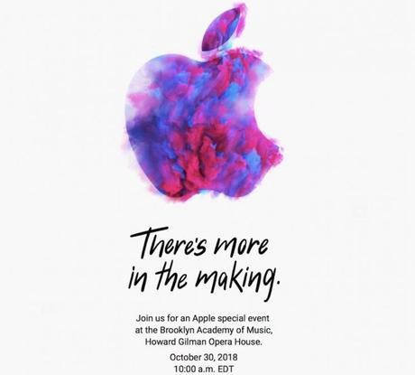 Une keynote d'Apple est prévue pour le 30 octobre !