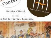 Kops l'Hospice d'Havré novembre heures, marge 4ème Biennale Aquarellistes Nord