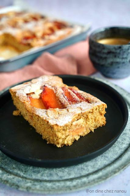 Gâteau très moelleux vegan aux amandes et aux coings