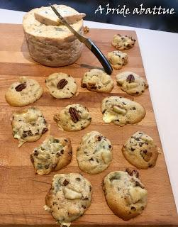 Cookies Fourme d'Ambert, poire et noix de Pecan