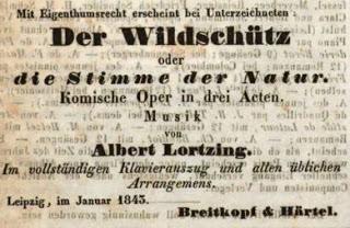 Le Braconnier d'Albert Lortzing au Theater-am-Gärtnerplatz