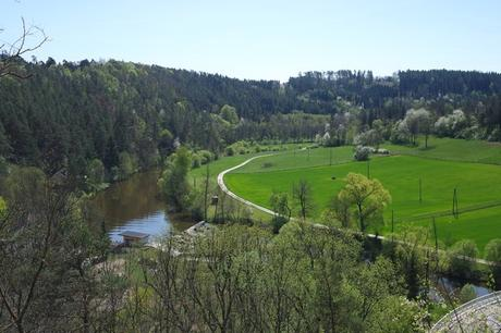 basse autriche waldviertel drosendorf village fortifié promenade été