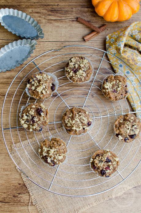 Muffins au quinoa et cranberries (vegan et IG bas)