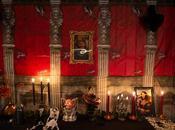 déco d'Halloween château hanté